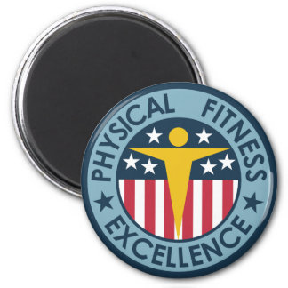 Physical Fitness Excellence 2 Inch Round Magnet
