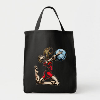 Physical Fitness Grocery Tote Bag
