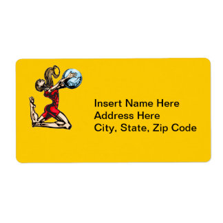 Physical Fitness Shipping Label