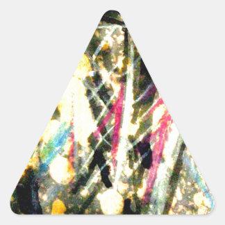 physical ice cream triangle sticker
