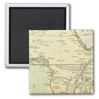 Physical map of Africa 2 Inch Square Magnet