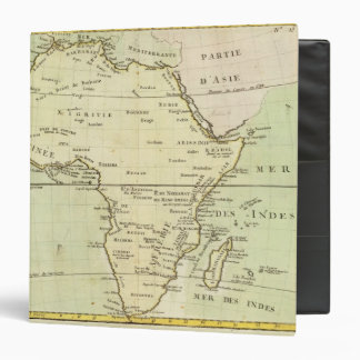 Physical map of Africa 3 Ring Binder