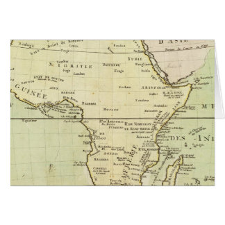 Physical map of Africa Card