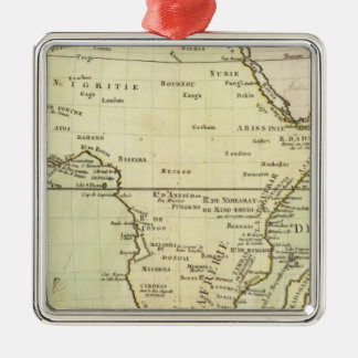 Physical map of Africa Metal Ornament