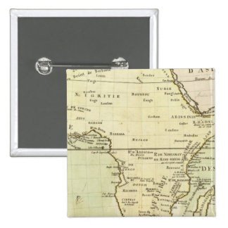 Physical map of Africa Pinback Button