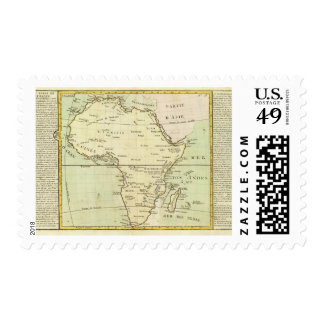 Physical map of Africa Postage Stamp