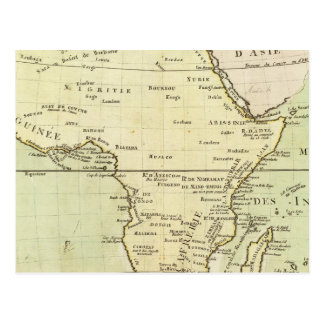 Physical map of Africa Postcard