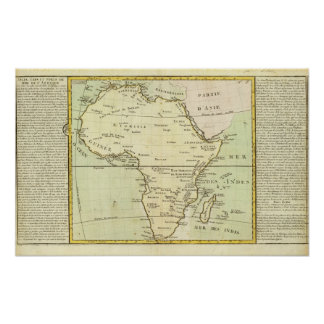 Physical map of Africa Poster