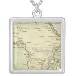 Physical map of Africa Square Pendant Necklace