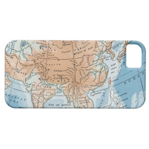 Physical Map of Asia (1916) iPhone SE/5/5s Case