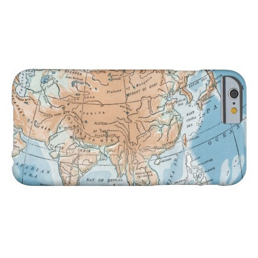 Physical Map of Asia (1916) Barely There iPhone 6 Case