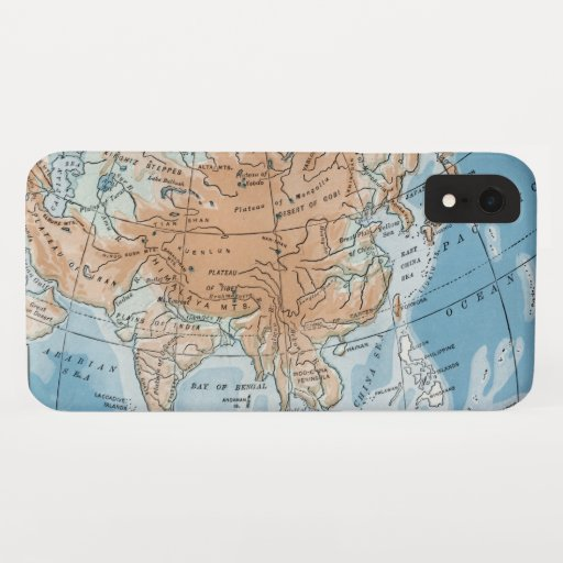 Physical Map of Asia (1916) iPhone XR Case