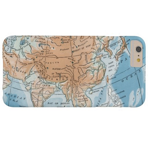 Physical Map of Asia (1916) Barely There iPhone 6 Plus Case