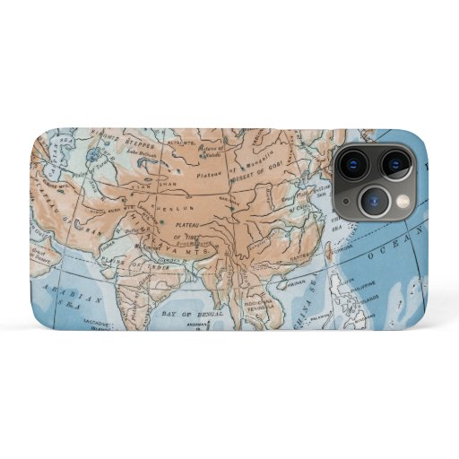 Physical Map of Asia (1916) iPhone 11 Pro Case