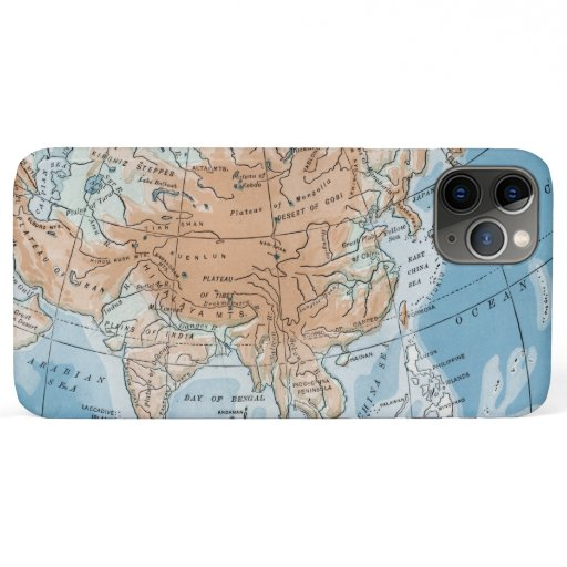 Physical Map of Asia (1916) iPhone 11 Pro Max Case