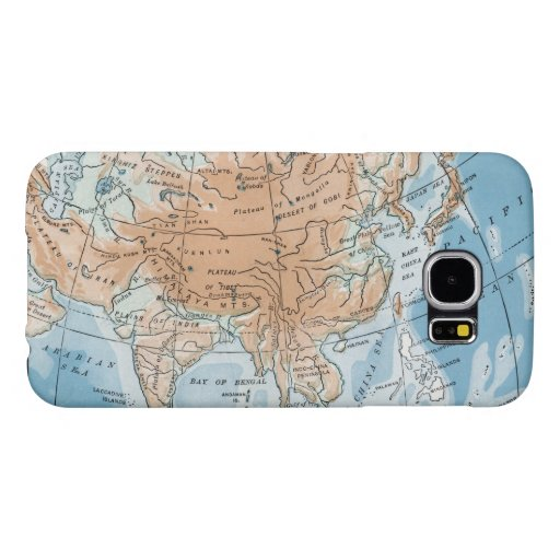 Physical Map of Asia (1916) Samsung Galaxy S6 Case