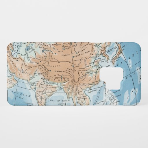 Physical Map of Asia (1916) Case-Mate Samsung Galaxy S9 Case