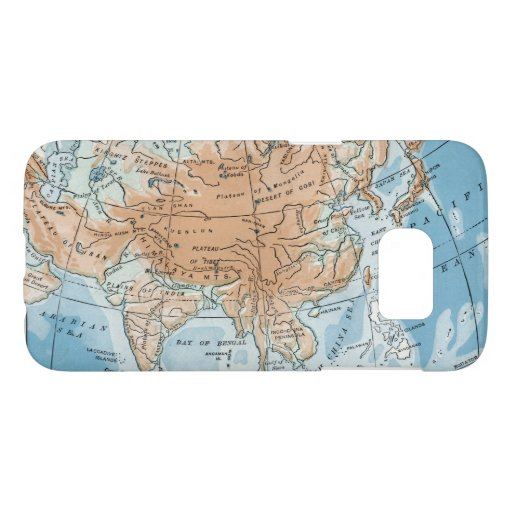 Physical Map of Asia (1916) Samsung Galaxy S7 Case