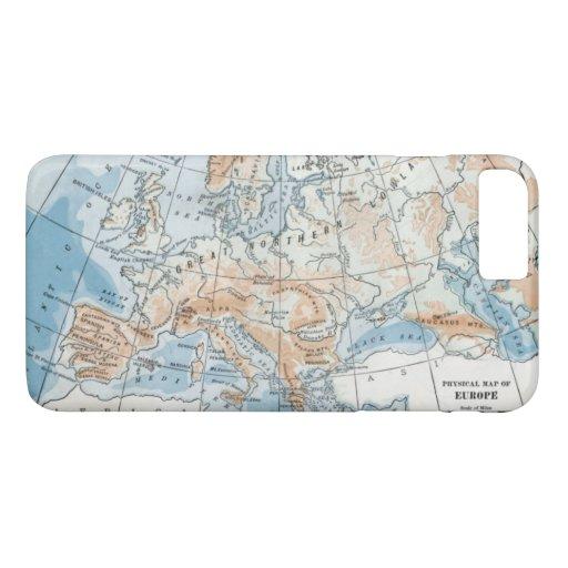 Physical Map of Europe (1916) iPhone 8 Plus/7 Plus Case