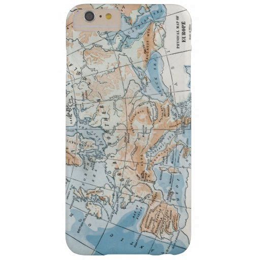 Physical Map of Europe (1916) Barely There iPhone 6 Plus Case