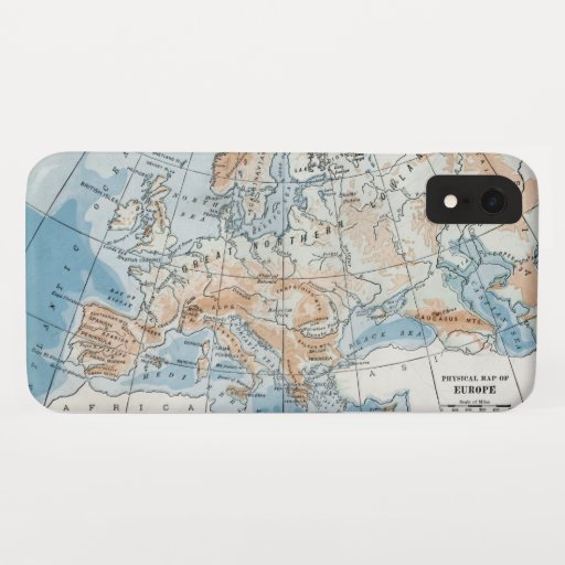 Physical Map of Europe (1916) iPhone XR Case