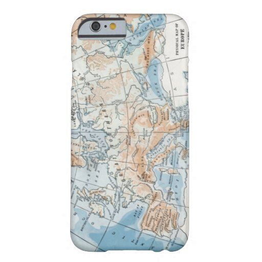 Physical Map of Europe (1916) Barely There iPhone 6 Case