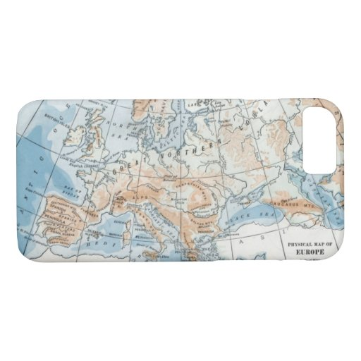 Physical Map of Europe (1916) iPhone 8/7 Case
