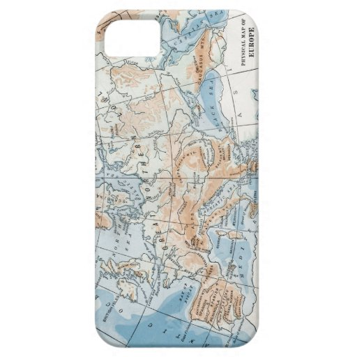 Physical Map of Europe (1916) iPhone SE/5/5s Case