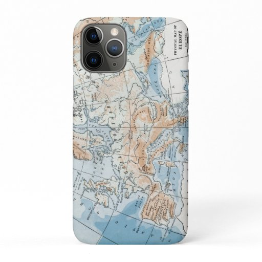 Physical Map of Europe (1916) iPhone 11 Pro Case