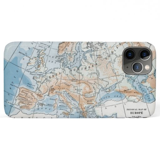 Physical Map of Europe (1916) iPhone 11 Pro Max Case