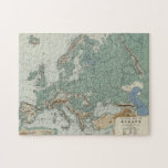 """Physical Map of Europe Jigsaw Puzzle<br><div class=""""desc"""">Physical map of Europe from around 1895. &#169; Bridgeman Images</div>"""