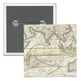 Physical Map of Indian seas 2 Inch Square Button
