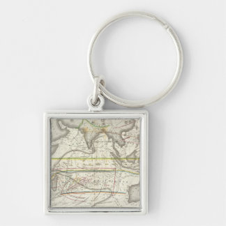 Physical Map of Indian seas Keychain