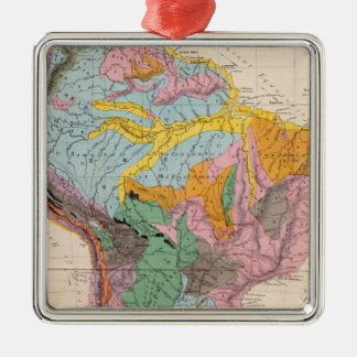 Physical Map of South America Metal Ornament