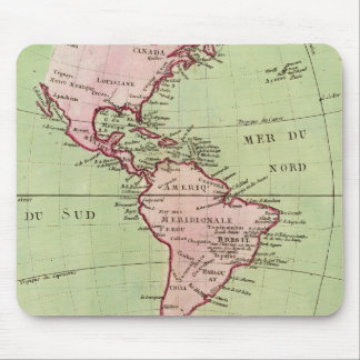 Physical map of the Americas Mouse Pad