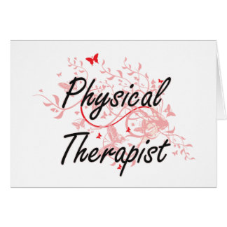 Physical Therapist Artistic Job Design with Butter Card