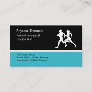 Sports massage therapy business cards zazzle physical therapist business card template flashek Choice Image