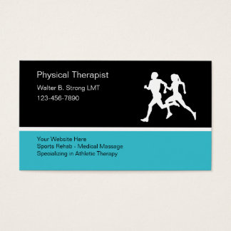 Physical Therapist Business Card Letterhead Template