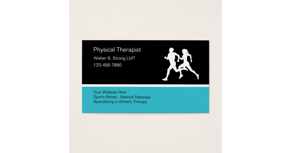 Physical Therapist Business Card Template | Zazzle.com