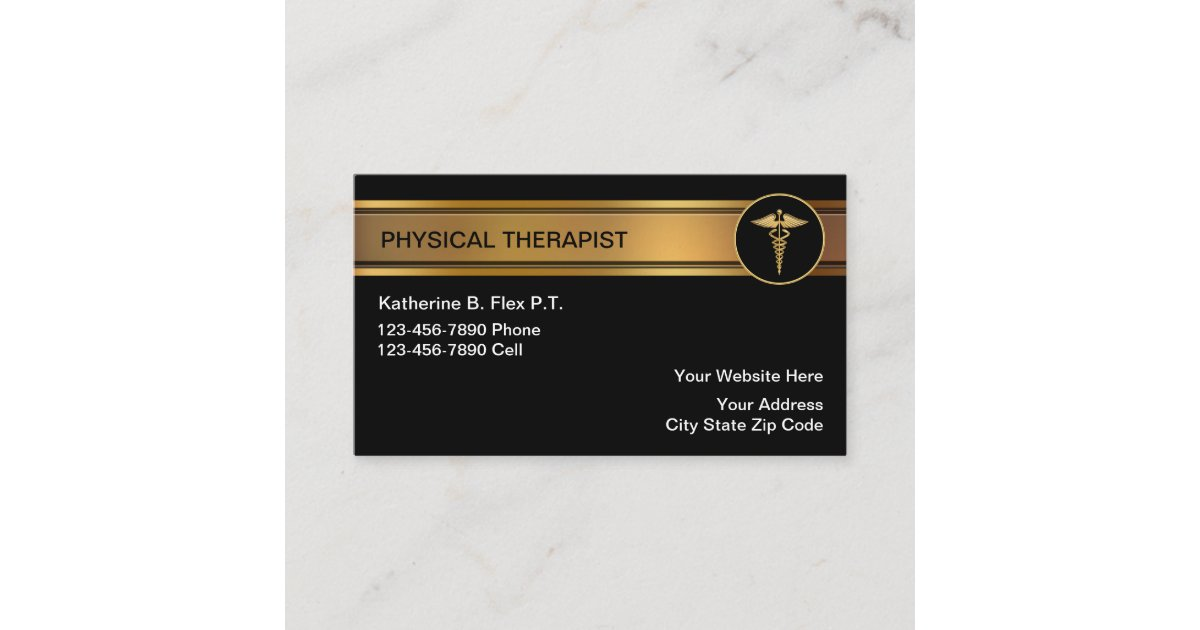 Physical Therapist Business Cards | Zazzle.com