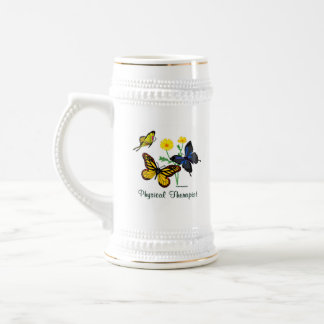Physical Therapist Butterflies Beer Stein