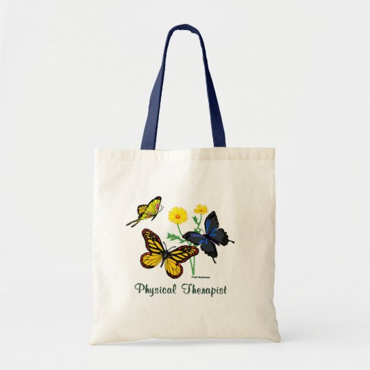 Physical Therapist Butterflies Tote Bag