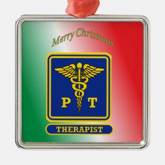 Physical Therapist Caduceus Shield Metal Ornament