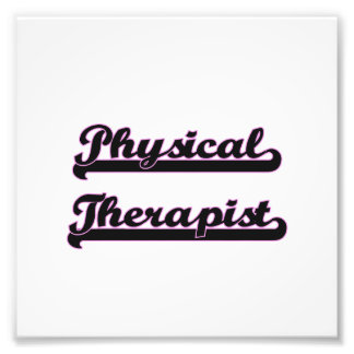 Physical Therapist Classic Job Design Photo Print