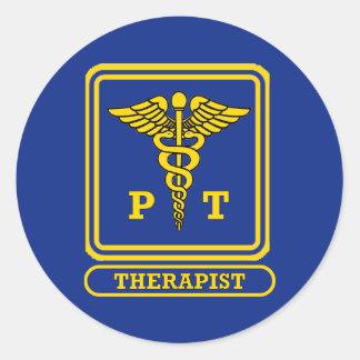 Physical Therapist Classic Round Sticker