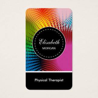 Physical Therapist- Colorful Abstract Pattern Business Card