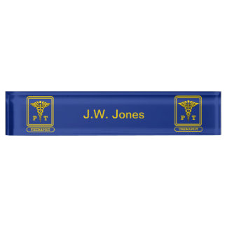 Physical Therapist Desk Nameplate