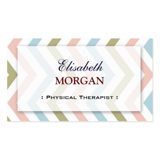 Physical Therapist - Natural Graceful Chevron Double-Sided Standard Business Cards (Pack Of 100)