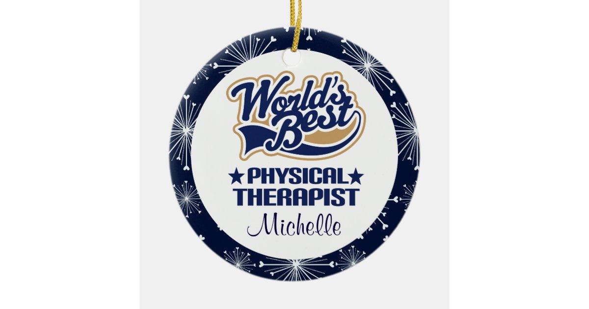 Physical Therapist Personalized Gift Ornament | Zazzle.com