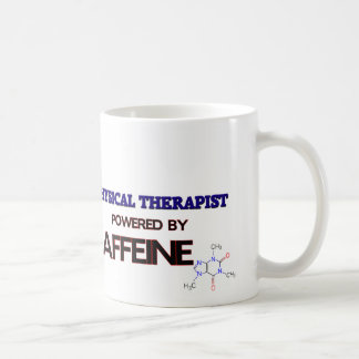 Physical Therapist Powered by caffeine Classic White Coffee Mug